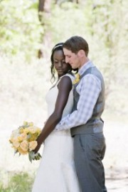 yellow and grey wedding