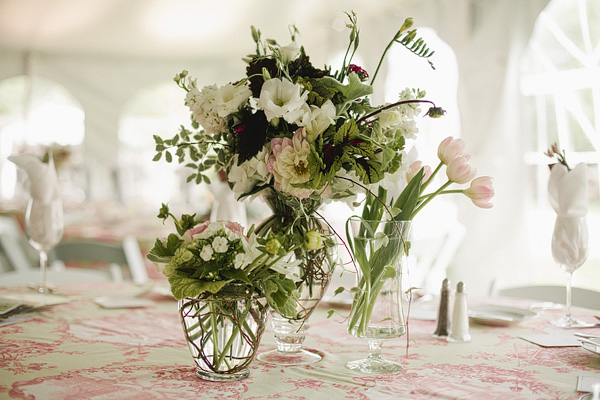Tablescape, toile linens, Colorado Springs event florist