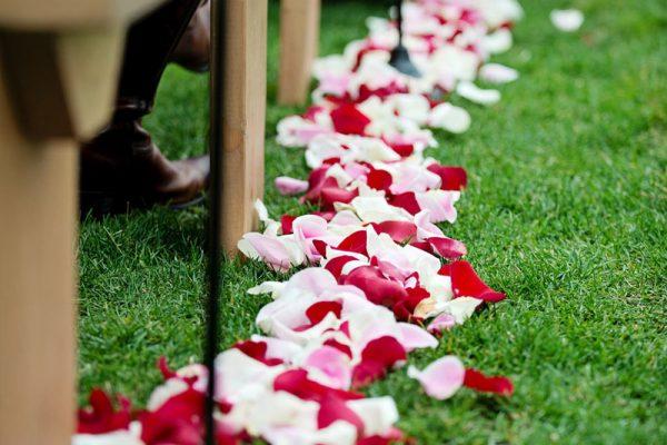 Twigs and Posies Colorado Springs wedding florist wedding flowers aisle petals