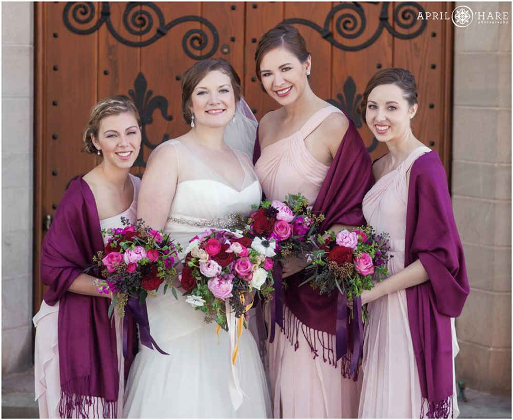 Twigs & Posies wedding florist Colorado Springs bridal bouquet bridesmaids