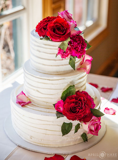 Twigs & Posies wedding florist Colorado Springs wedding cake